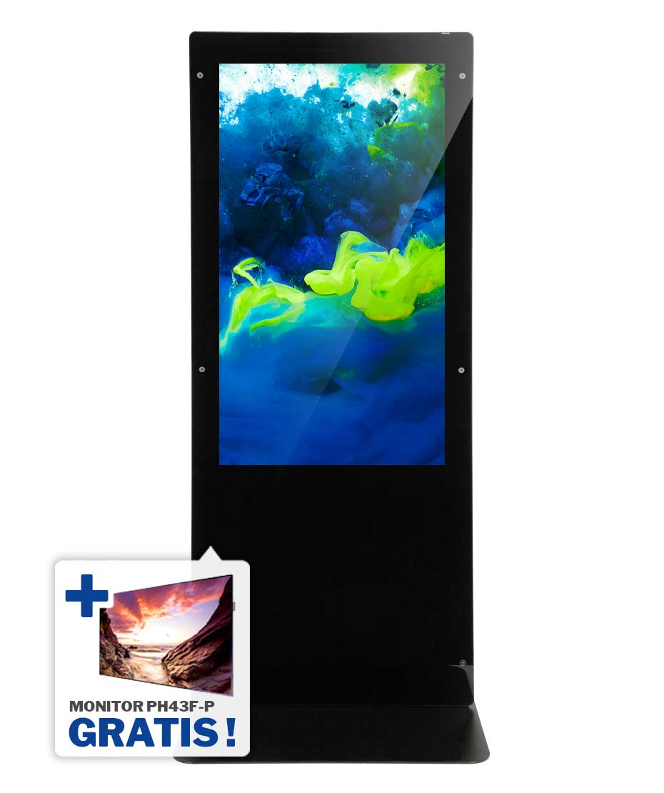 Totem Multimediale Monofacciale 4K Mod. NewTon 55