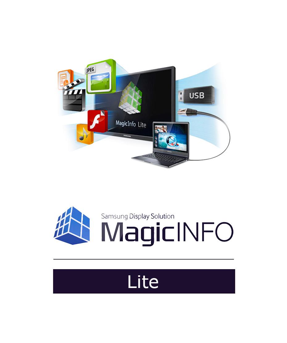MagicInfo Lite (già inclusa fino a 25 licenze)