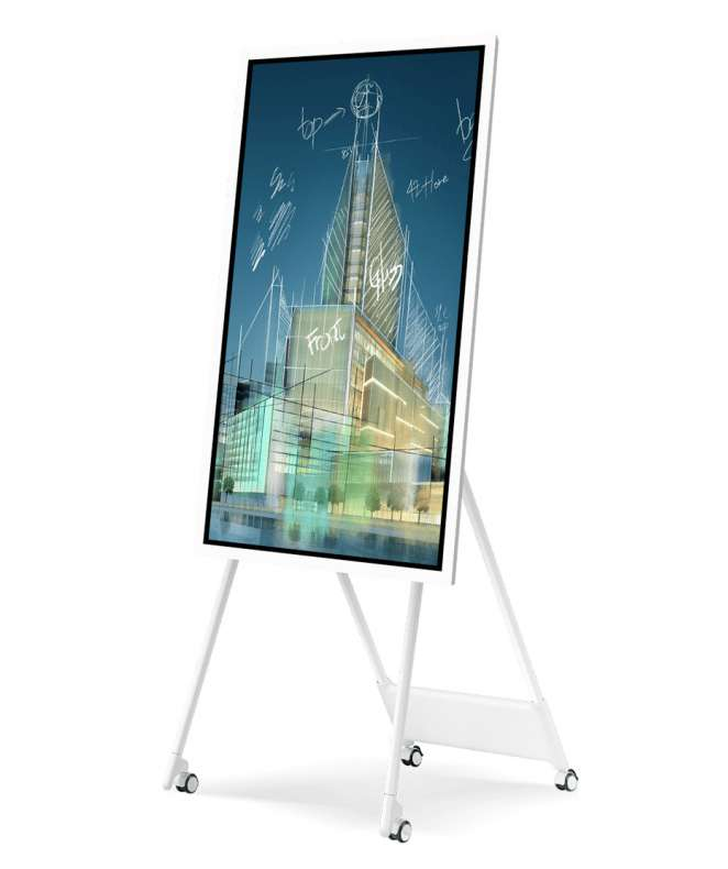 "Lavagna multimediale Samsung FLIP 2 con display da 55"" completa di carrello"