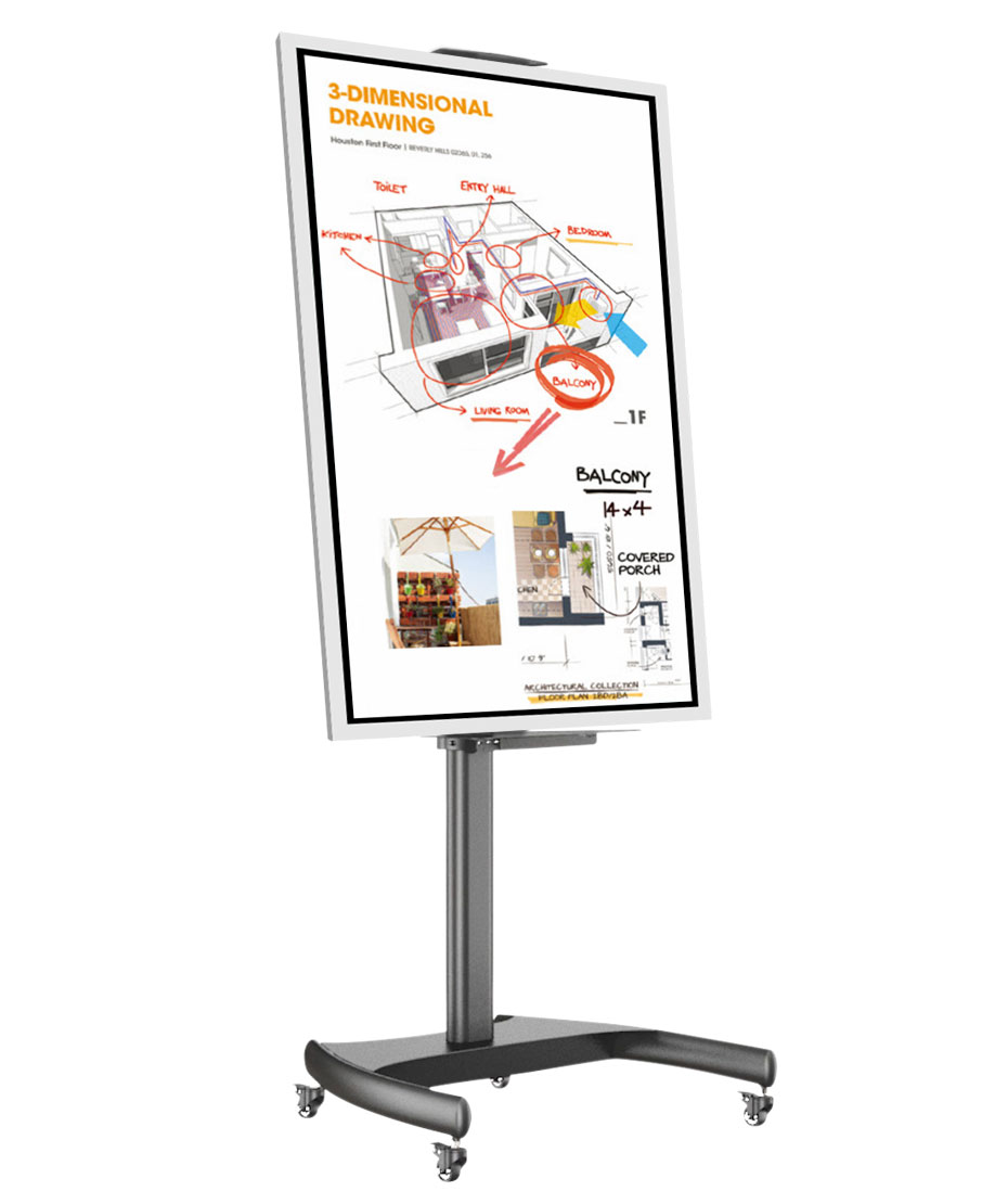 "Lavagna multimediale Samsung FLIP 2 con display da 65"" completa di carrello"
