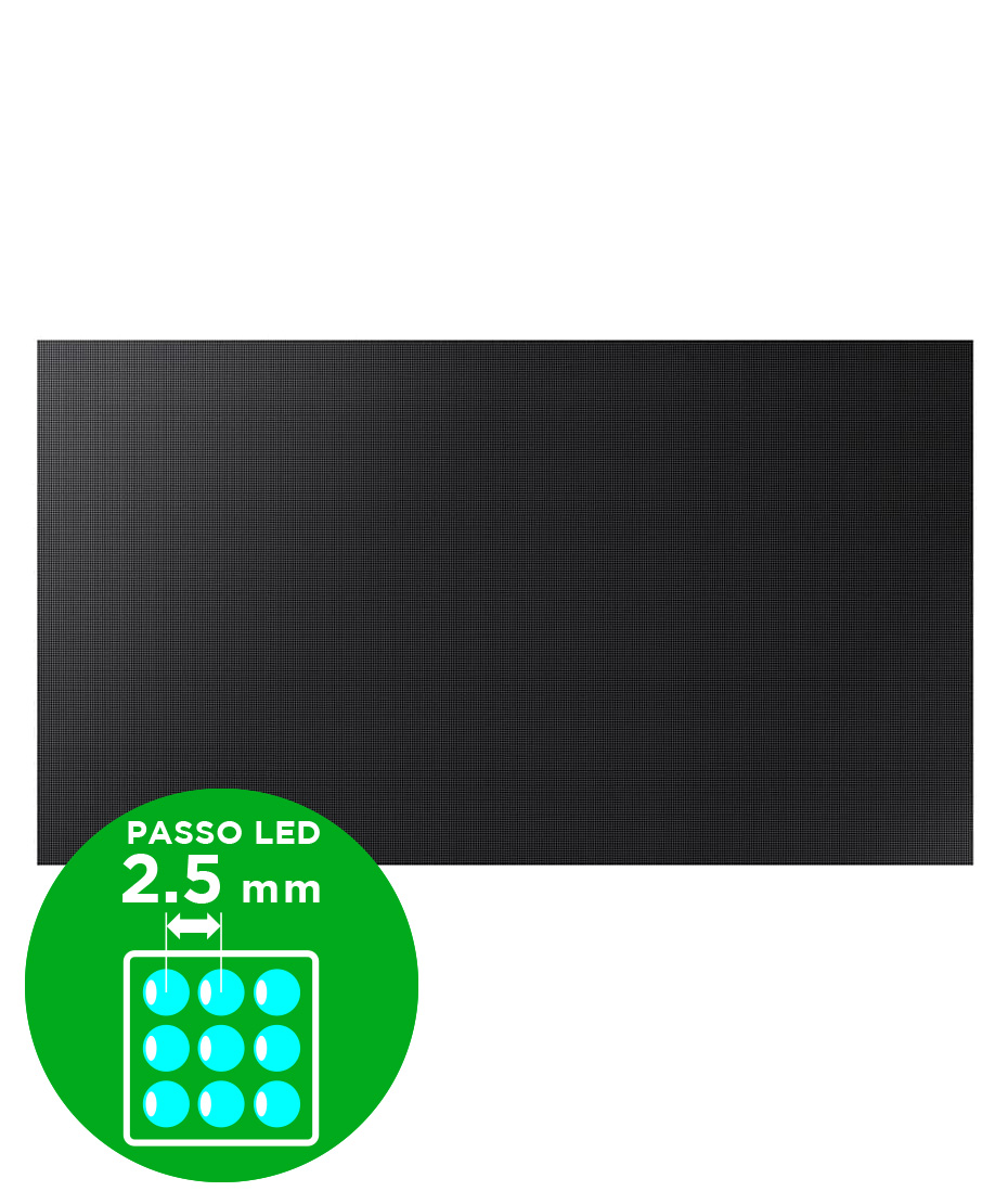 Samsung led per interni mod. IE025R  1200 cd dimensione cabinet 96 x 54 cm