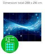 Configurazione Ledwall Samsung 6x4 Mod. IF025H