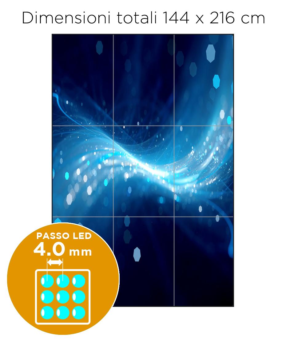 Configurazione Ledwall Samsung 3x3 Mod. IF040H-D