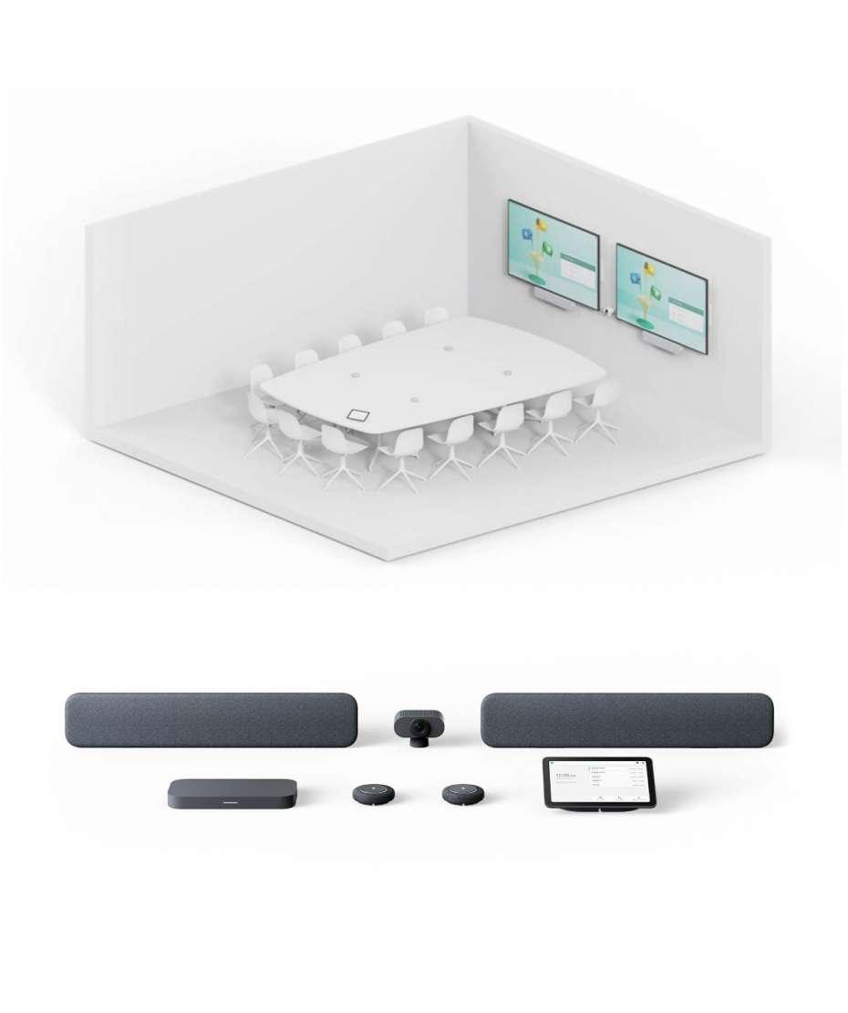 Soluzione Sala Riunioni Grande Sistema Google Meet Series One Room Kit di Lenovo