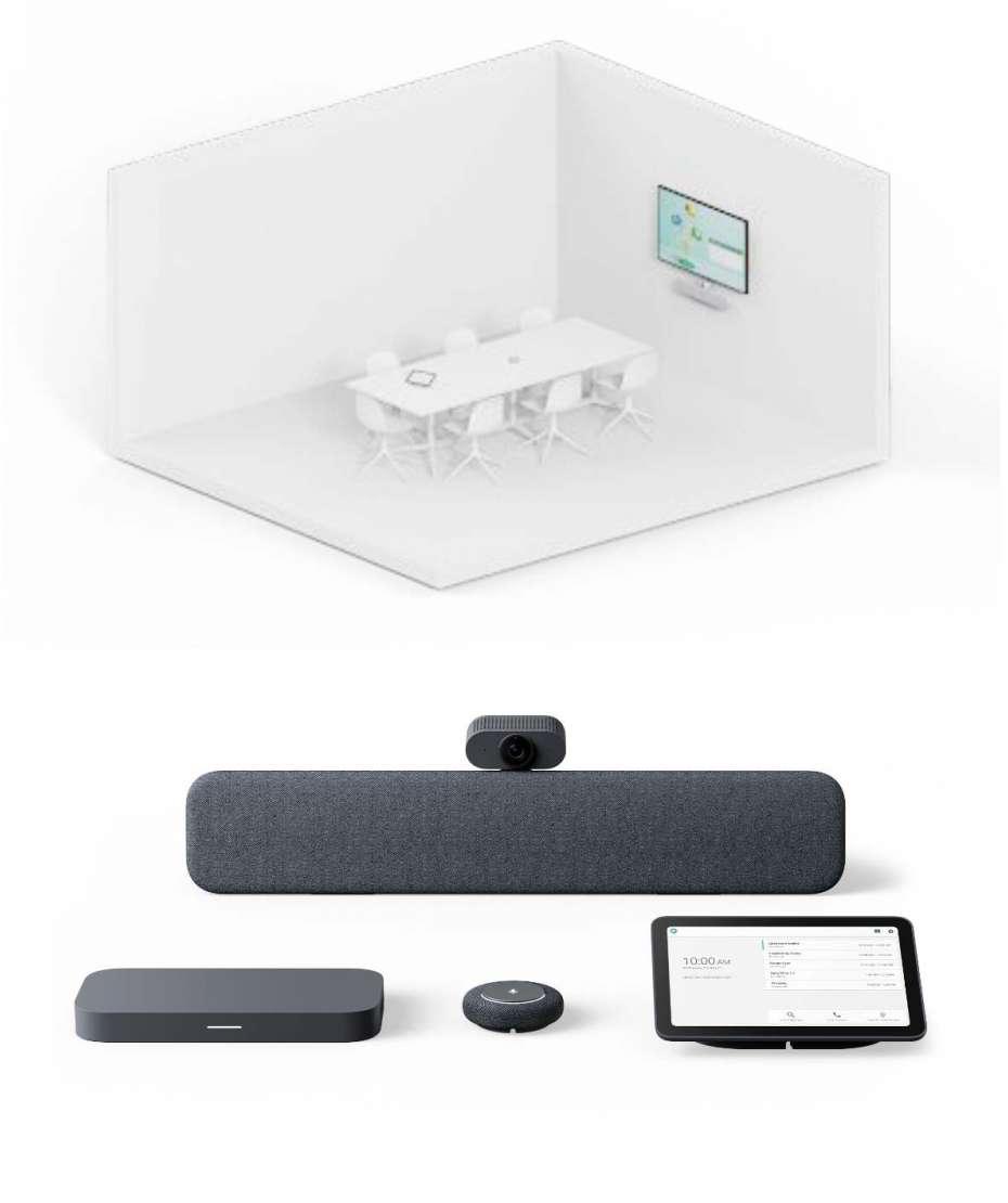 Soluzione Sala Riunioni Media Sistema Google Meet Series One Room Kit di Lenovo