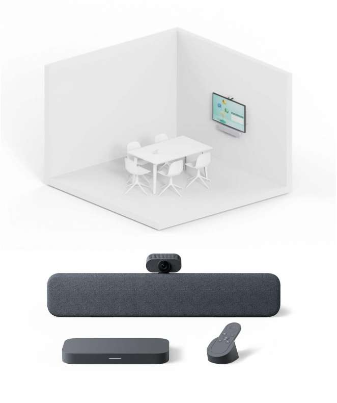Soluzione Sala Riunioni Piccole Sistema Google Meet Series One Room Kit di Lenovo
