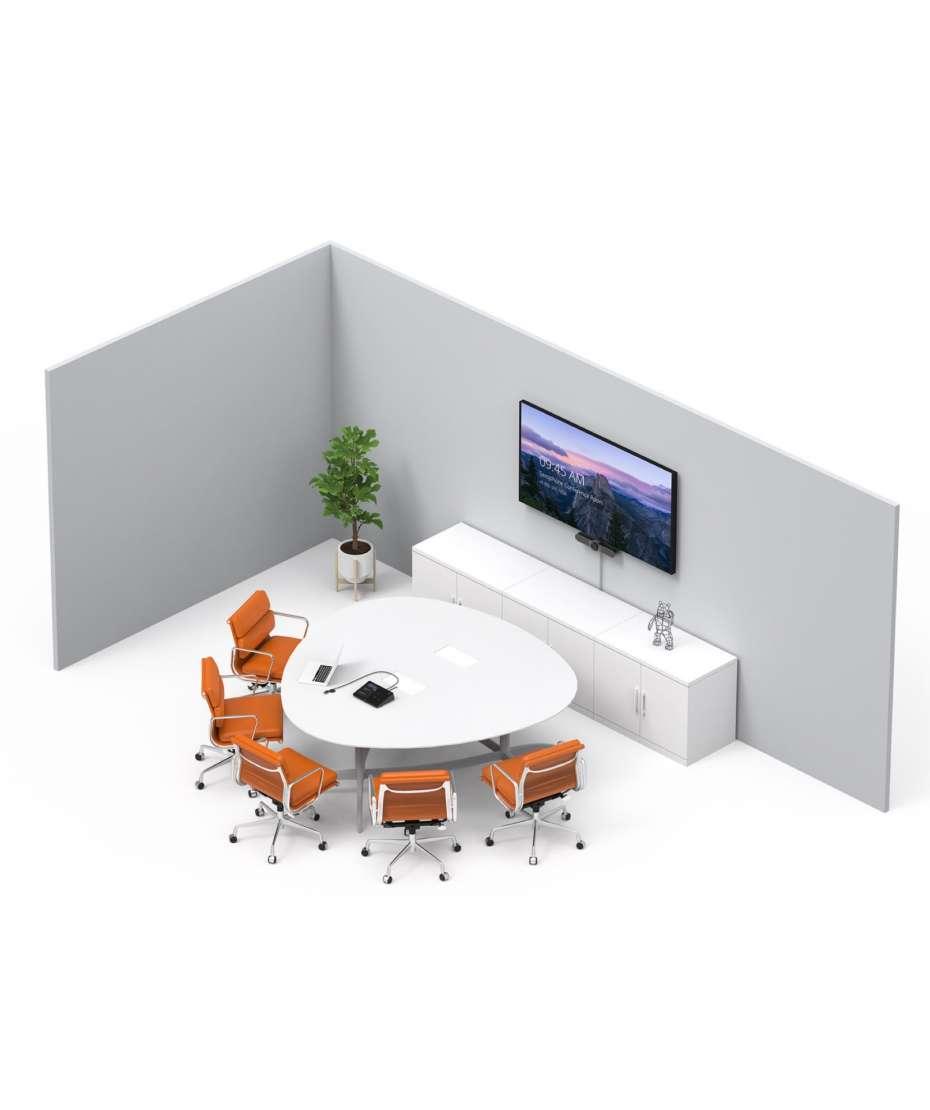 Soluzione Sale Riunioni Piccole Sistema Logitech Meetup + Monitor Samsung 4K mod. QB50R