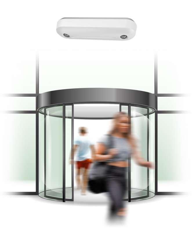 Soluzione people counting per 1 varco di ingresso/uscita + telecamera Ideogear Abacus
