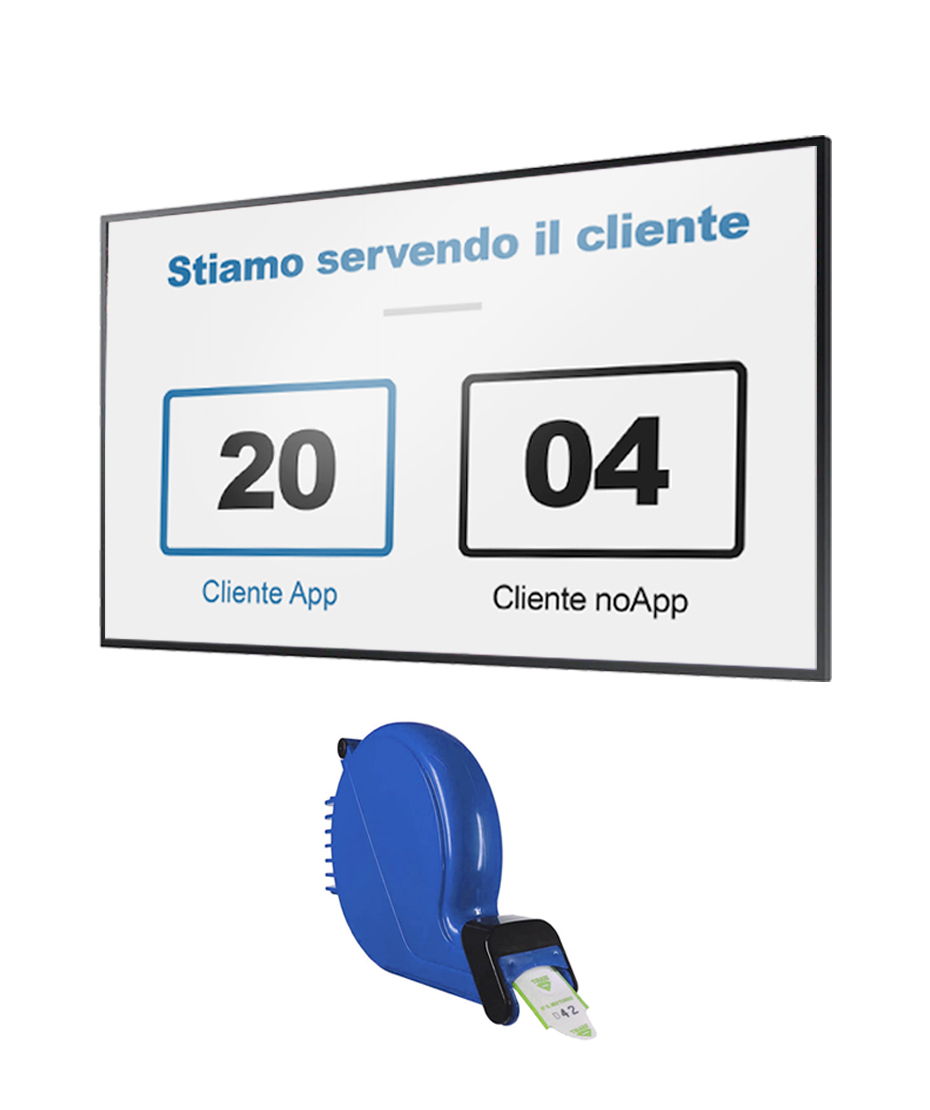"Monitor 50"" QB50R + Software eliminacode(Visore) + chiocciola ticket"