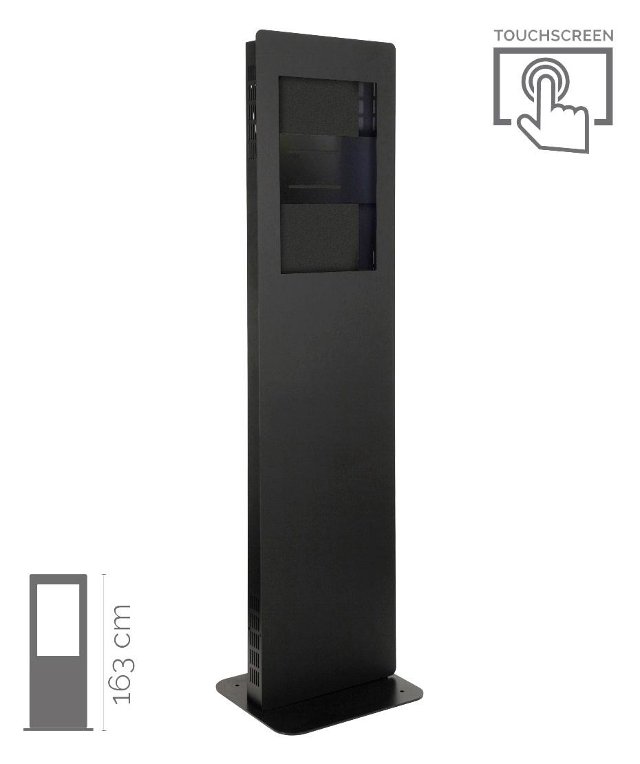 Struttura Totem Multimediale Monofacciale Mod. E-post Slim TS