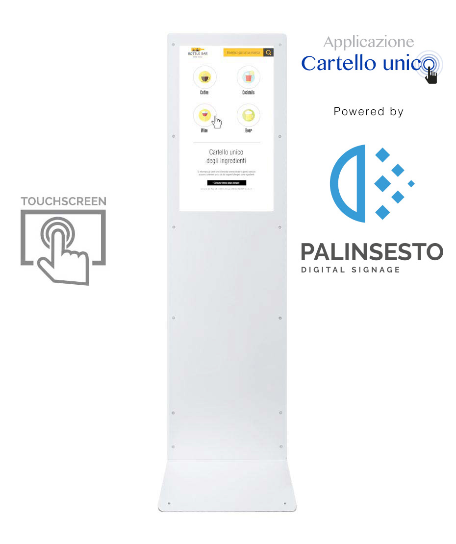 Totem Multimediale Cartello Unico Ingredienti powered by Palinsesto (touch screen)