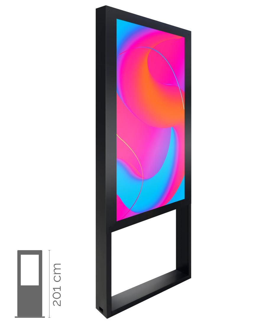 Totem Multimediale da Interno mod. Window Indoor 55
