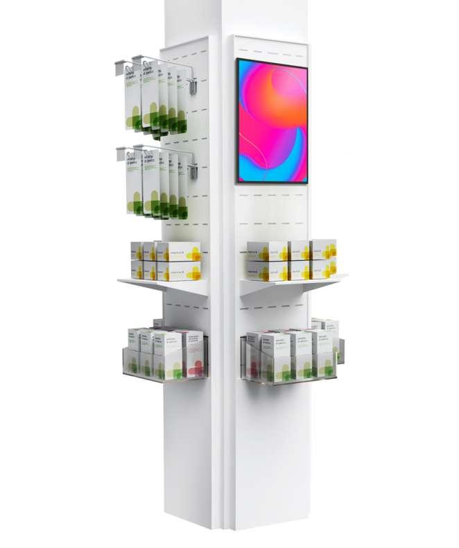 """Colonna digitale con 4 lati espositivi ed un Monitor da 13"""""""