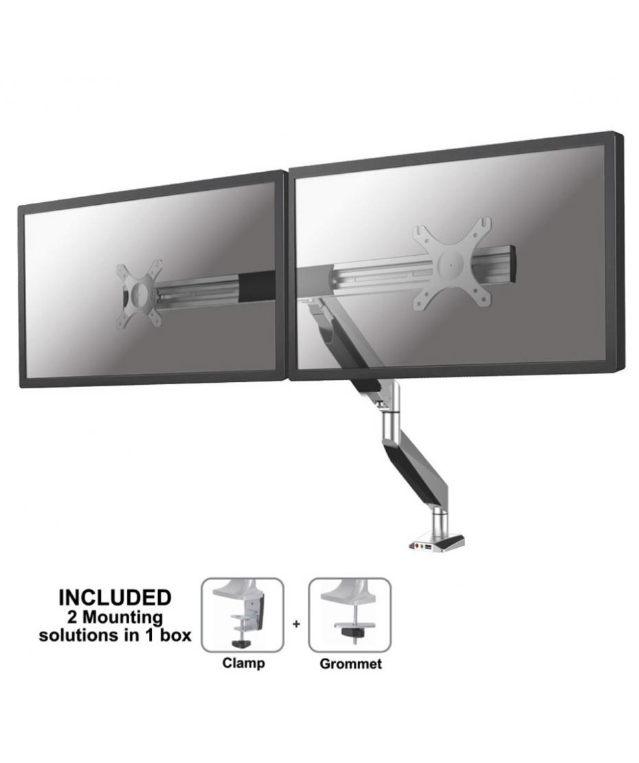 Supporto da scrivania per monitor mod. NM-D725DXSILVER