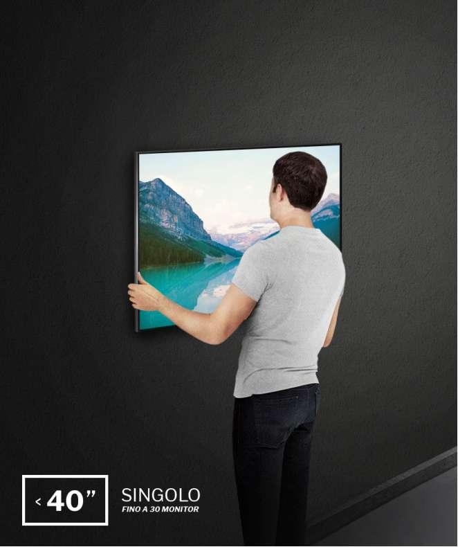 """Installazione a parete monitor fino a 40"""", single site fino a 30 monitor (costo a monitor)"""