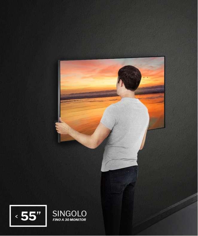 """Installazione a parete monitor da 43"""" a 55"""", single site fino a 30 monitor (costo a monitor)"""