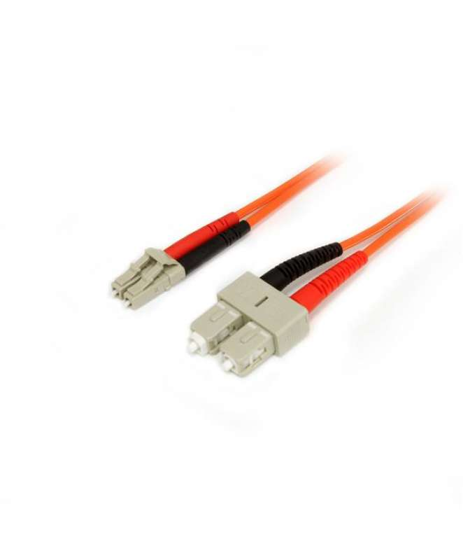 Cavo patch duplex in fibra multimodale 50/125 3 m LC/SC - LSZH