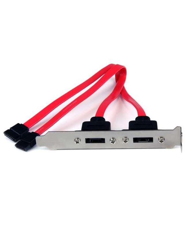 Supporto slot piastra SATA con 2 porte eSATA