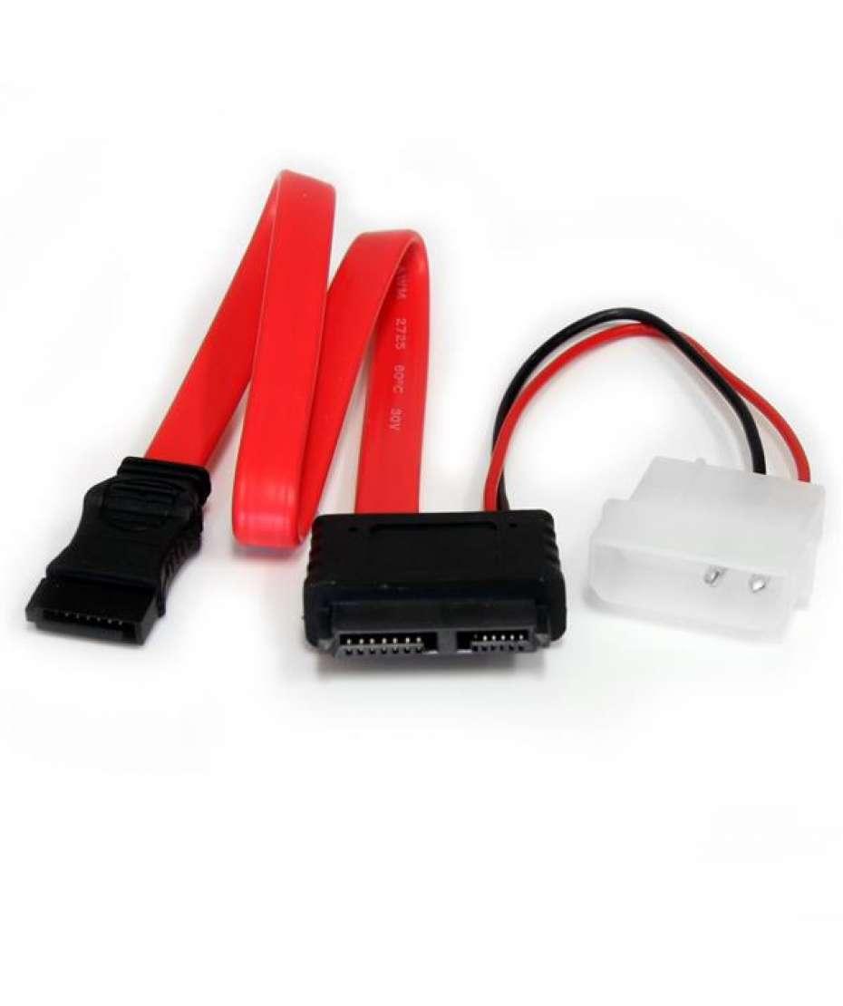 Adattatore cavo slimline SATA a SATA e alimentazione LP4 30,5cm