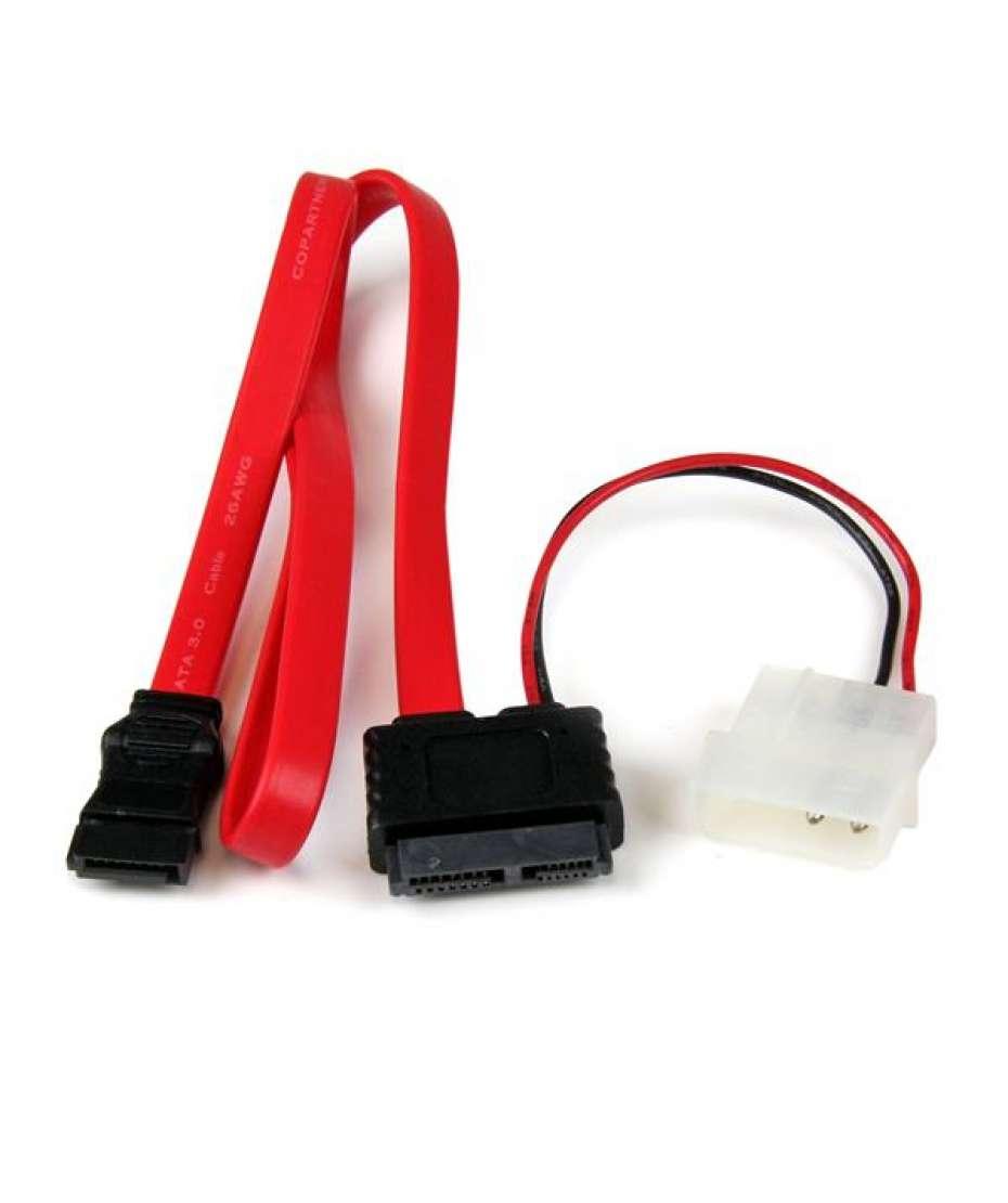 Adattatore cavo slimline SATA a SATA e alimentazione LP4 90 cm