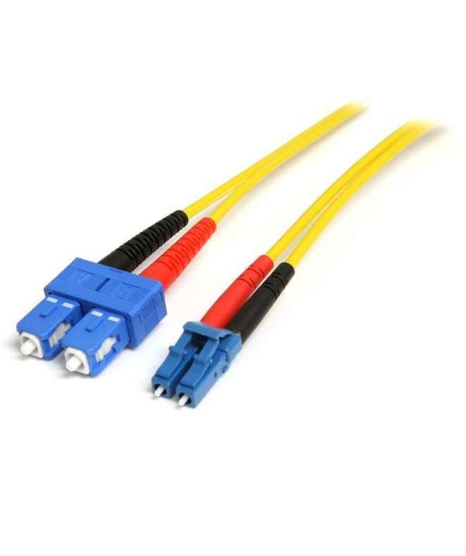 Cavo patch duplex in fibra modalità singola LC-SC - LSZH da 1 m