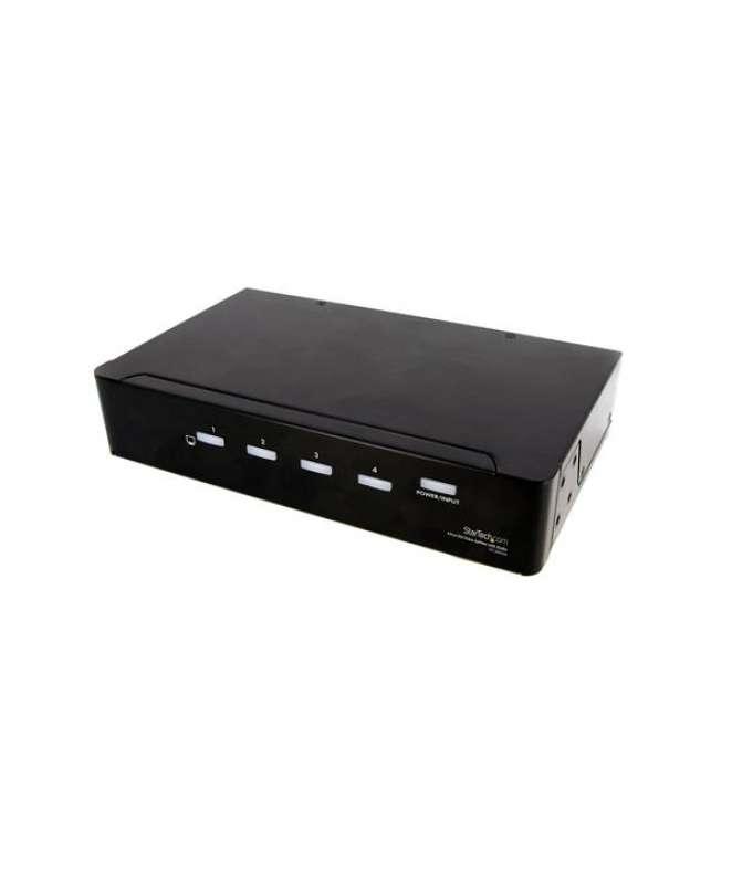 Sdoppiatore video DVI 4 porte con audio