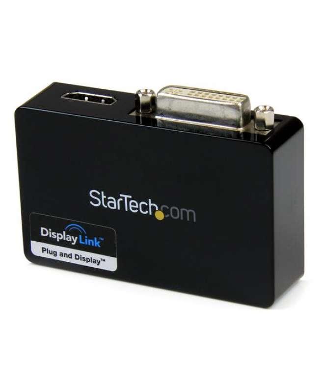 Adattatore scheda video esterna doppio monitor USB 3.0 a HDMI e DVI