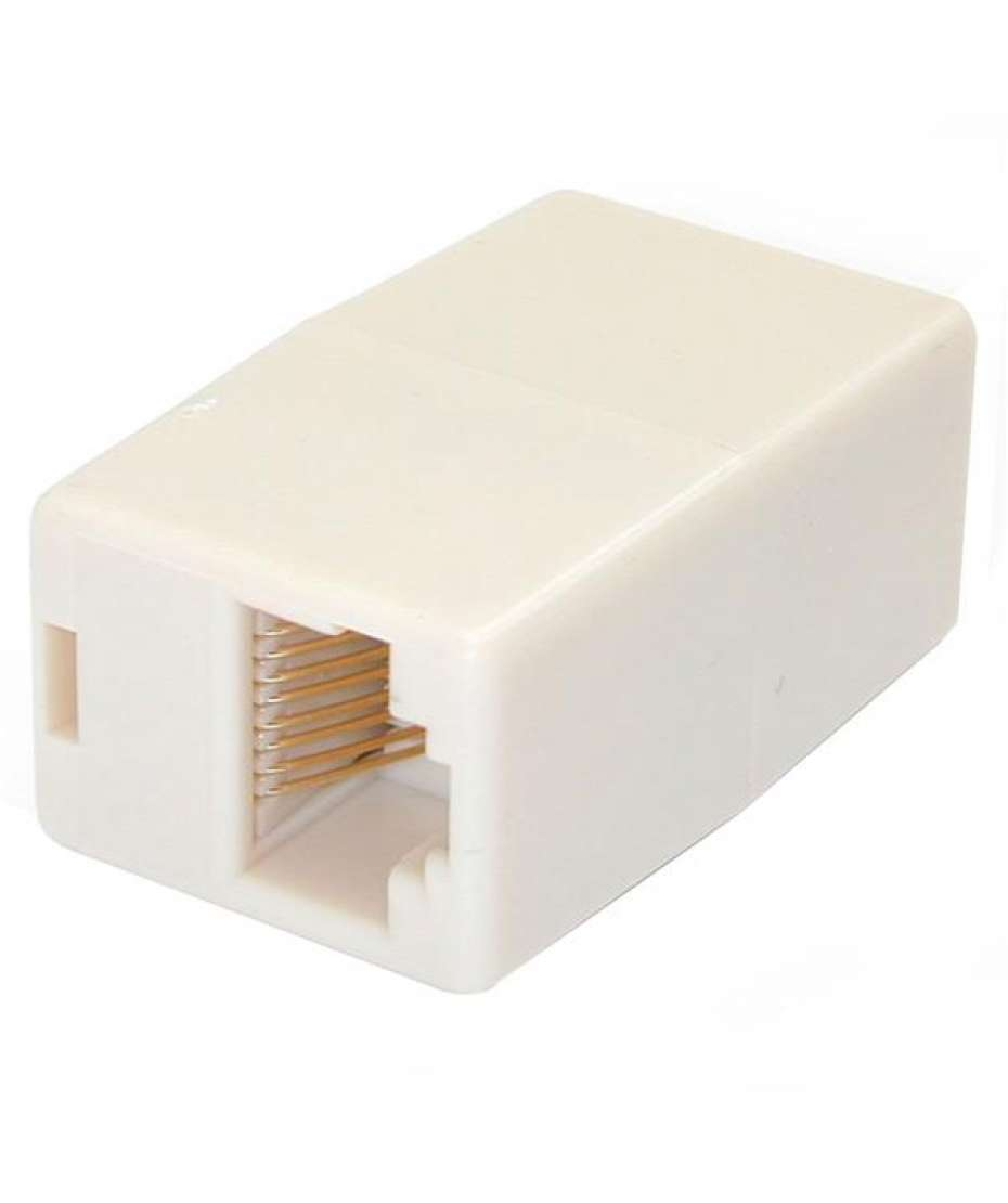 Accoppiatore Modulare in serie per cavo patch LAN RJ45 CAT5e femmina / femmina - Beige