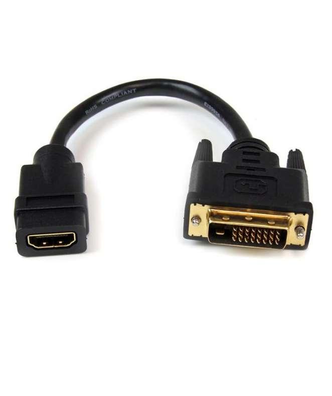 Adattatore cavo video HDMI a DVI-D da 20 cm - HDMI femmina a DVI maschio