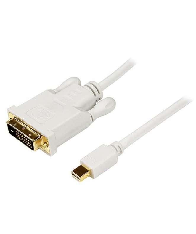 Cavo convertitore adattatore Mini DisplayPort a DVI da 1,8 m – Mini DP a DVI 1920x1200 - Bianco