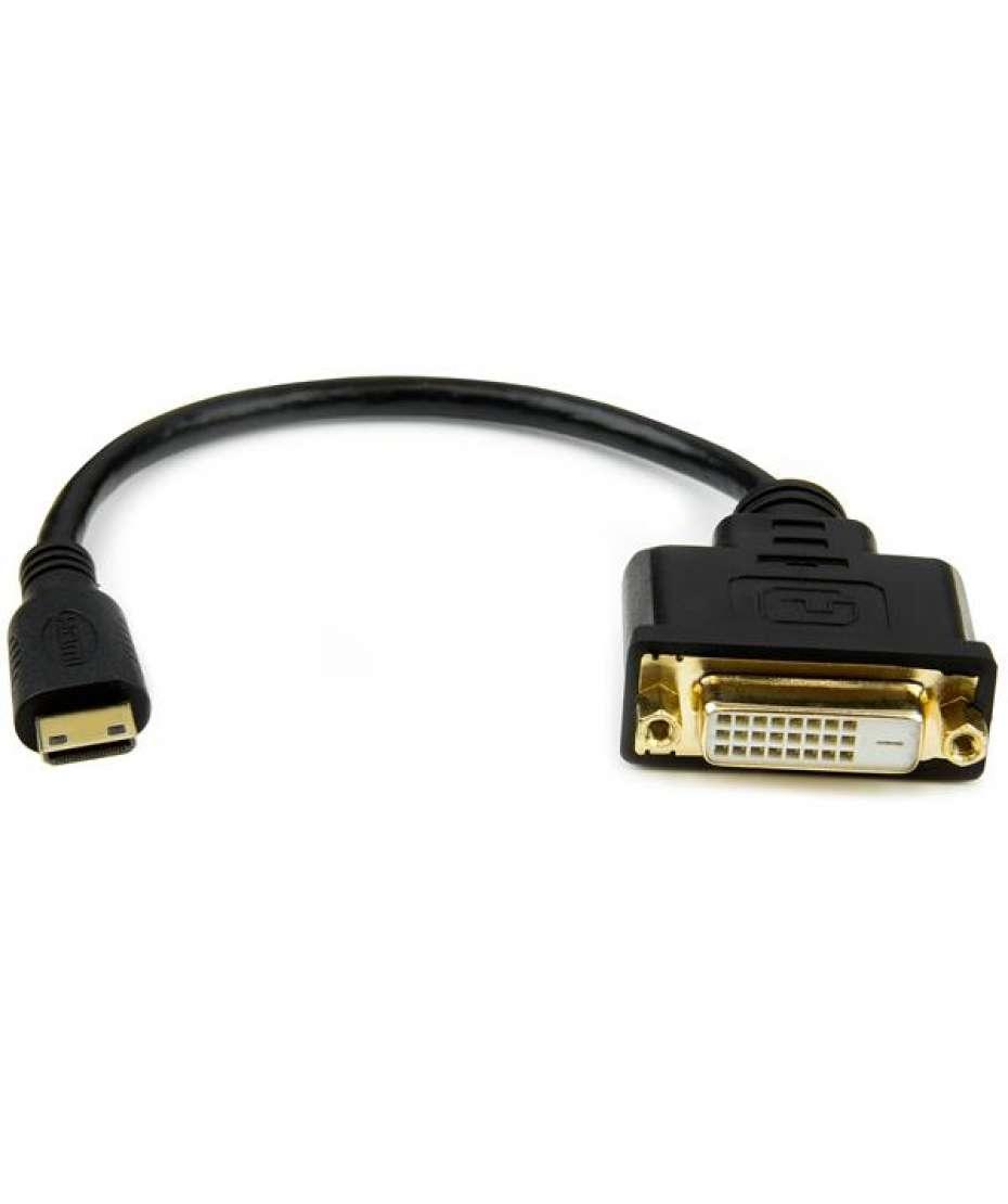 Adattatore mini HDMI a DVI-D da 20cm - Maschio/Femmina