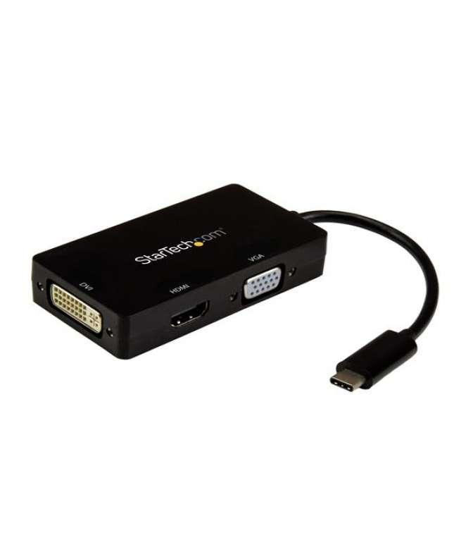 Adattatore Multiporta USB-C - Scheda Grafica Esterna 3 in 1 USB Tipo-C a HDMI, DVI o VGA