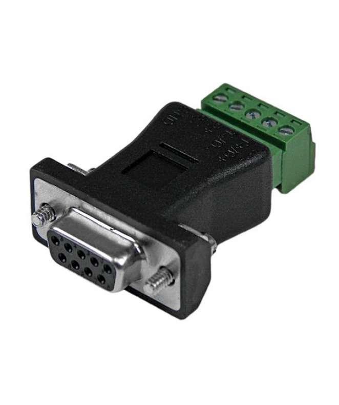 Adattatore Seriale a 2 porte DB9 RS422 / RS485 con collegamento a morsettiera