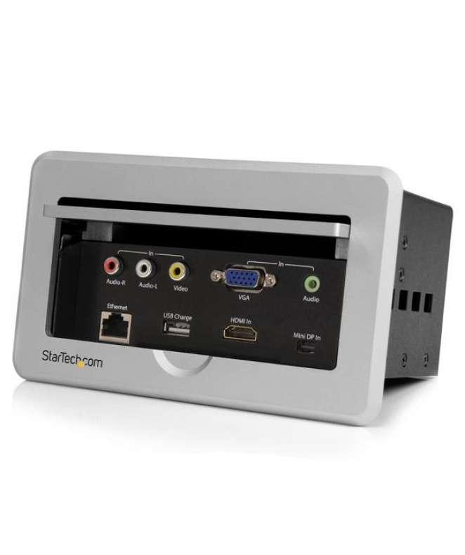 Box presa multimediale da tavolo o scrivania HDMI / VGA / DP a HDMI con porta di ricarica rapida