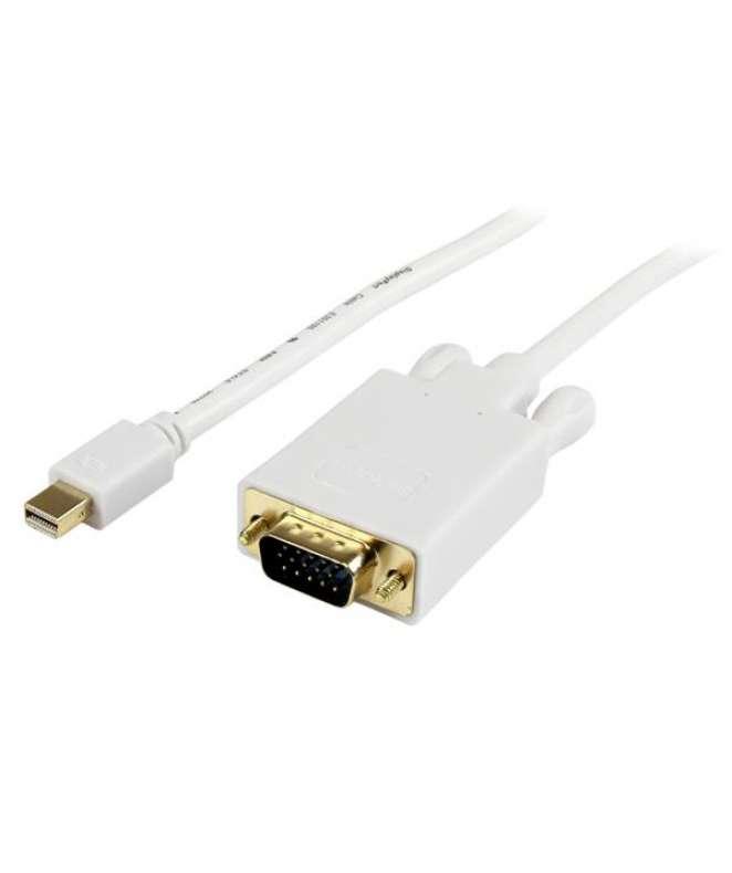 Cavo convertitore adattatore Mini DisplayPort a VGA da 3 m – mDP a VGA 1920x1200 - Bianco