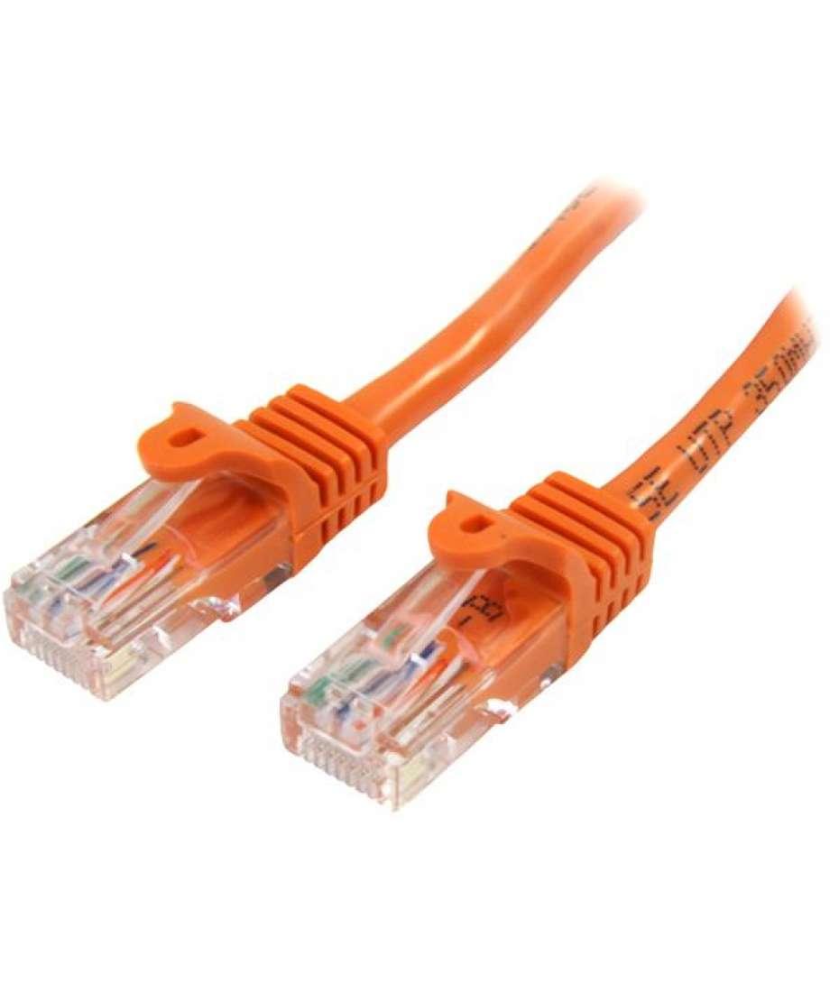 Cavo di rete CAT 5e - Cavo Patch Ethernet RJ45 UTP Arancio da 1m antigroviglio