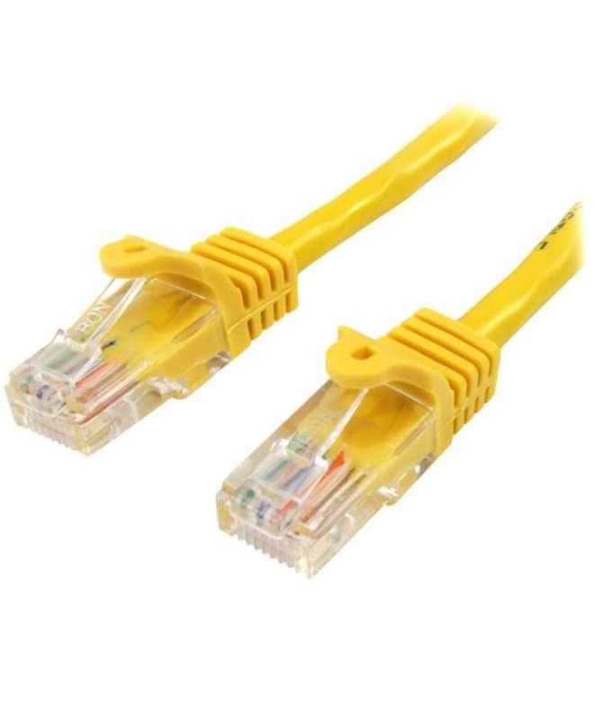 Cavo di rete CAT 5e - Cavo Patch Ethernet RJ45 UTP Giallo da 1m antigroviglio