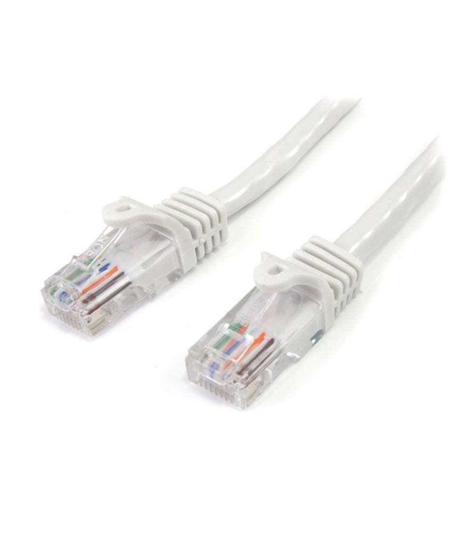Cavo di rete CAT 5e - Cavo Patch Ethernet RJ45 UTP Bianco da 3m antigroviglio