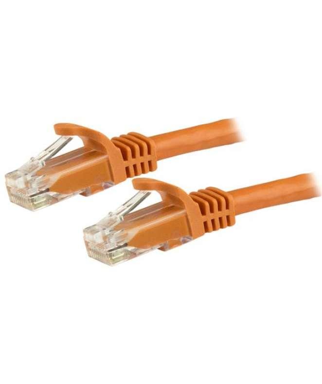 Cavo di rete CAT 6 - Cavo Patch Ethernet RJ45 UTP arancione da 1m antigroviglio - cavo gigabit categoria 6