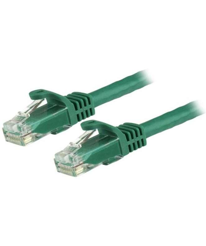 Cavo di rete CAT 6 - Cavo Patch Ethernet RJ45 UTP verde da 50 cm antigroviglio