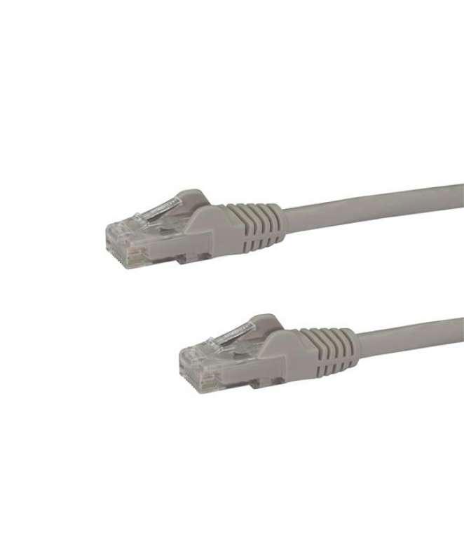 Cavo di rete CAT 6 - Cavo Patch Ethernet RJ45 UTP grigio da 1m antigroviglio