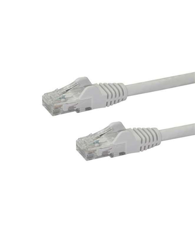 Cavo di rete CAT 6 - Cavo Patch Ethernet RJ45 UTP bianco da 1m antigroviglio