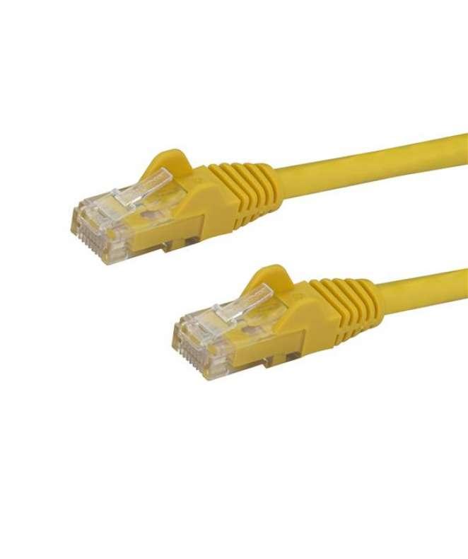 Cavo di rete CAT 6 - Cavo Patch Ethernet RJ45 UTP giallo da 1m antigroviglio