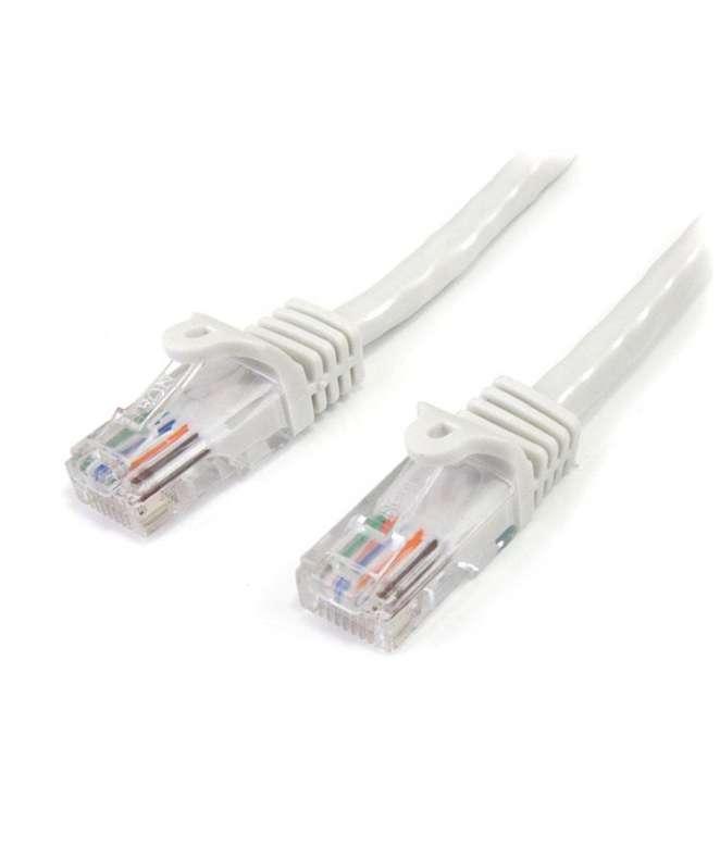 Cavo di Rete da 5m Bianco Cat5e Ethernet RJ45 Antigroviglio