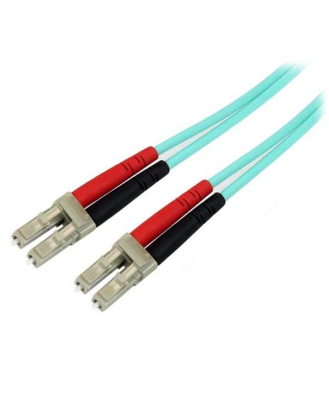 Cavo di rete patch Duplex in fibra ottica multimodale LSZH 50/125 da 10 Gb 1m LC-LC - acqua