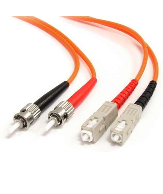 Cavo di rete patch ST - SC 62.5/125 - LSZH multimodale duplex in fibra ottica da 2m