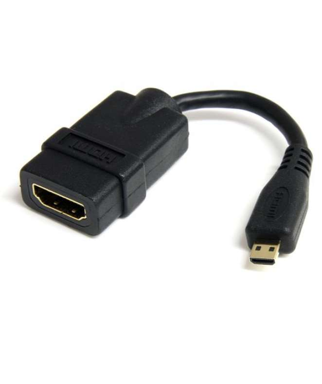 Cavo HDMI a micro HDMI ad alta velocita' - Cavo HDMI micro High Speed da 12cm - F/M - Nero