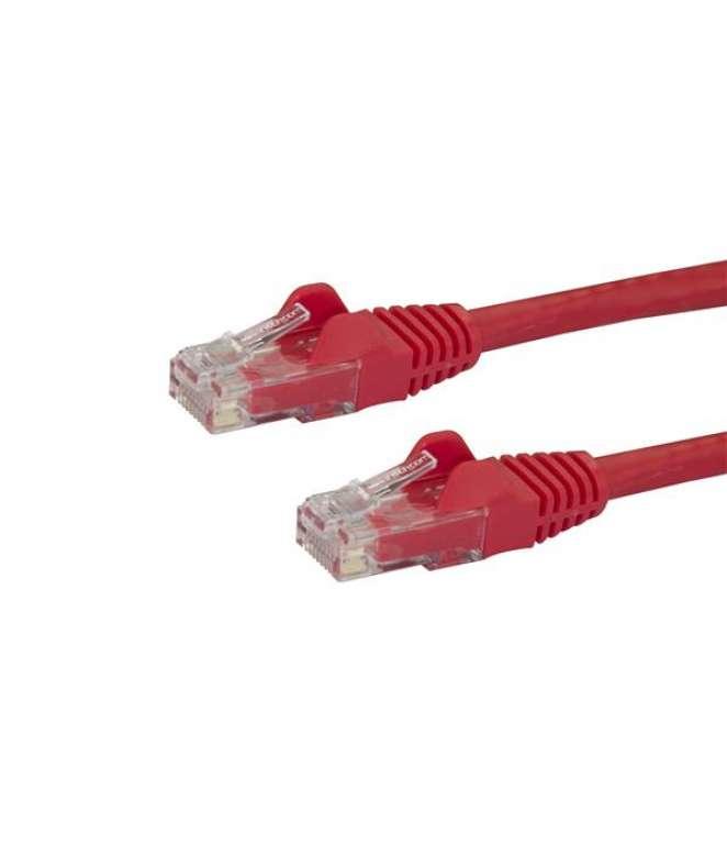 Cavo di rete CAT 6 - Cavo Patch Ethernet RJ45 UTP rosso da 10m antigroviglio