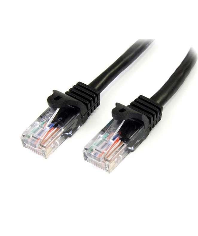 Cavo di rete CAT5e - Cavo Patch Ethernet RJ45 UTP nero da 5m antigroviglio