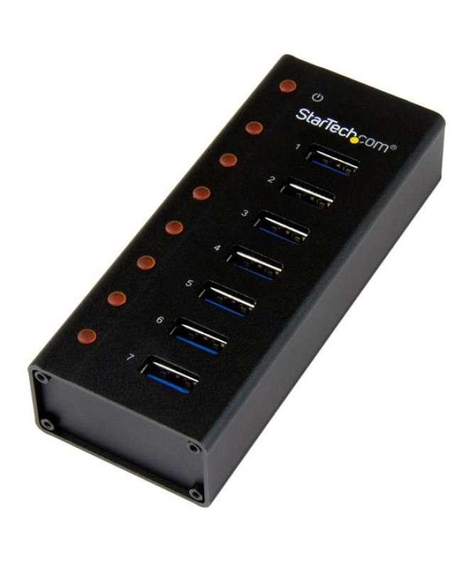 HUB USB 3.0 a 7 porte con case metallico - Perno e concentratore USB 3.0 desktop/montabile a parete